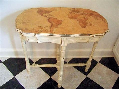 Diy Decoupage Table - a map some mod podge make a great table davies