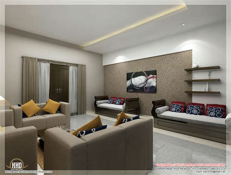 interior decoration of living room awesome 3d interior renderings kerala home design and floor plans