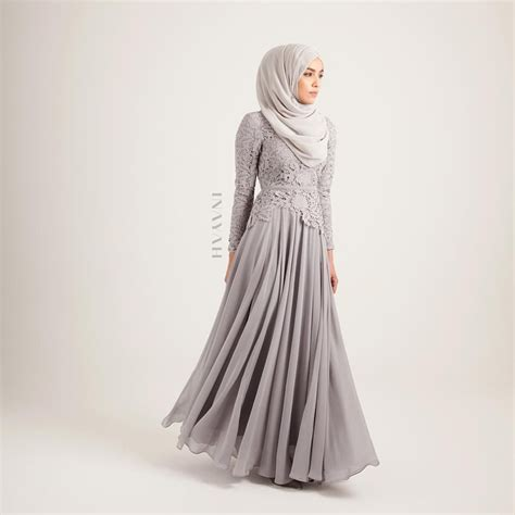 Dress Muslim Inayah inayah our popular grey evening gown is back in