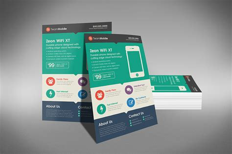 flat design template free marketing brochure templates set 1