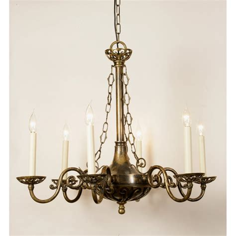 Candle Pendant Lighting Or Edwardian Period Hanging Chadelier With 6 Candle Lights