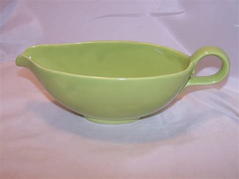 gravy boat is called homer laughlin rhythm sauce gravy boat chartreuse
