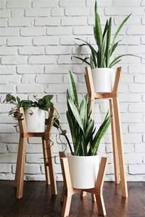 porte plante bois interieur
