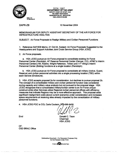air memo template memo on air proposals to realign and