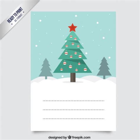 weihnachtsbaum karte download der premium vektor