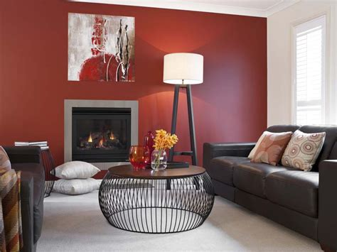 Color Schemes For Living Room by Lounge Room Red Feature Wall Inspirations Paint