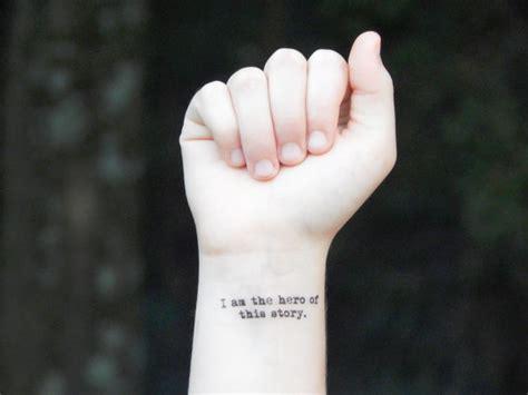 temporary tattoo quote tattoo inspirational tattoo i am