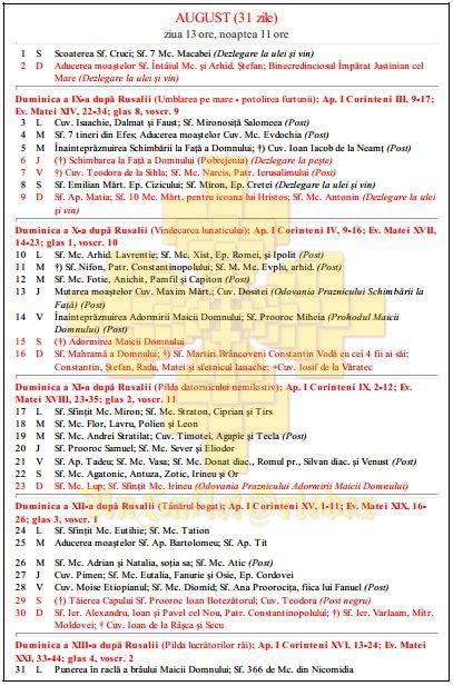 Calendar Ortodox 2015 Calendar Ortodox 2015 Un Suflet Ortodox