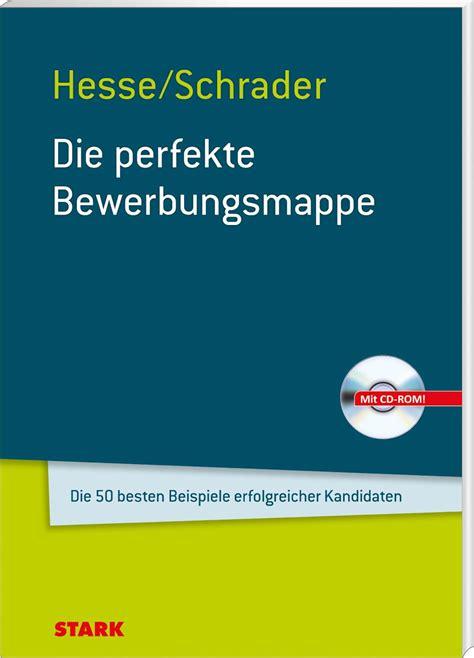 Lebenslauf Vorlage Hesse Schrader hesse schrader bewerbung bewerbung deckblatt 2018