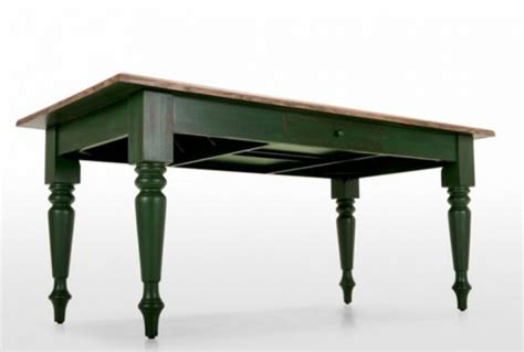 Green Dining Table by Rochelle Oak Green Rectangular Dining Table Absolute Home