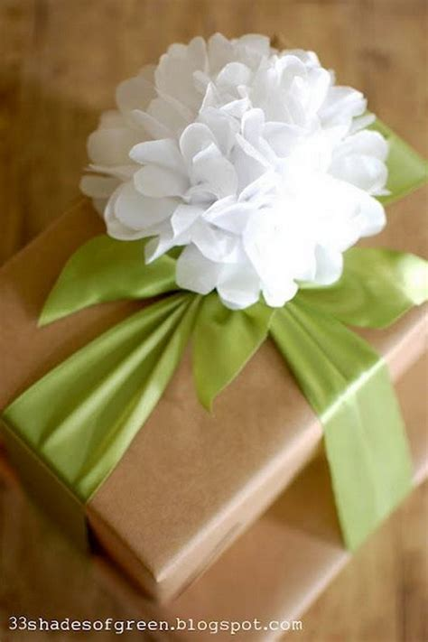 How To Make Flowers Out Of Wrapping Paper - creative gift wrap ideas