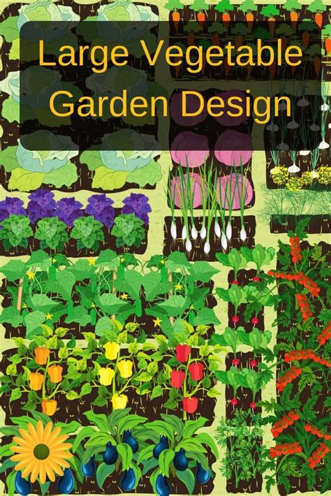 Large Vegetable Garden Design Large Vegetable Garden Layout