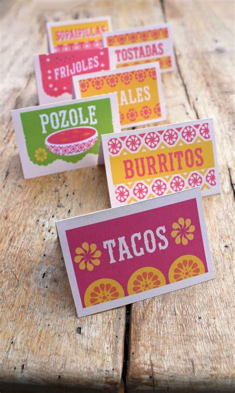 asado recipe card template 12 simple diy mexican food signs printables for