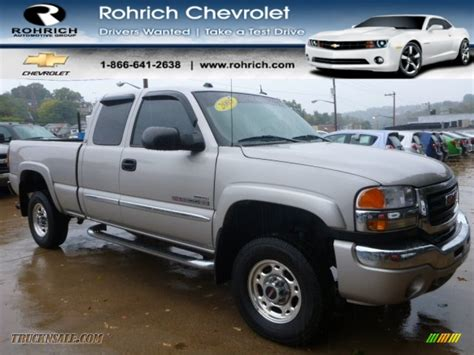 2005 gmc 2500hd extended cab 2005 gmc 2500hd slt extended cab 4x4 in silver