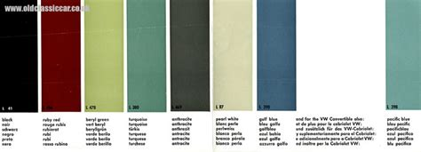 vw paint colors chart autos post