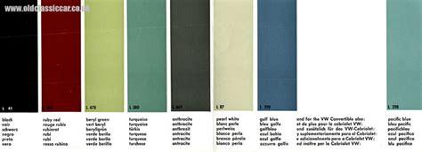 volkswagen colour chart denisblogs custom vw beetle interior