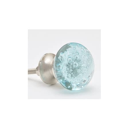 Glass Cabinet Door Knobs Potteryville Aqua Light Sea Blue Glass Cabinet Knob With Air Bubbles Low Price Door Knobs