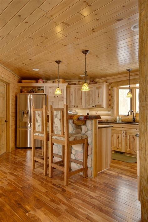 rustic kitchen design ideas hickory cabinets hardwood