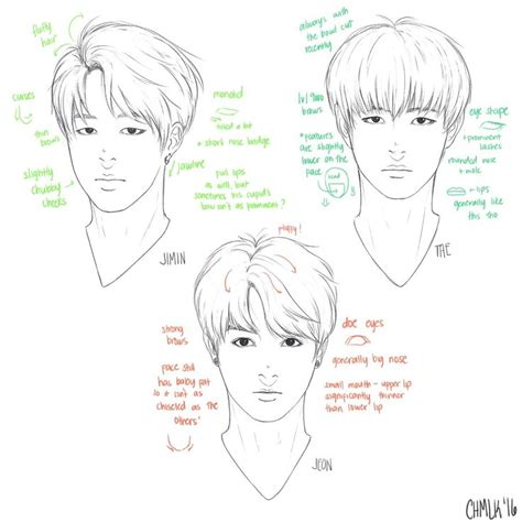 line art portrait tutorial dibujos de bts bts pinterest kpop personajes de