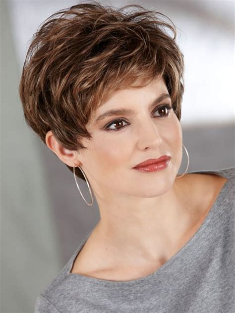 wedge cut for fine hair henry margu annette wig short traditional wedge cut