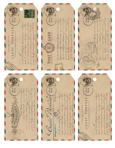 printable old fashioned christmas gift tags the loveliest little details freebie airmail gift tag