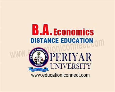 School Of Economics Mba Distance Learning by B A Economics Distance Education Periyar