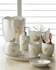 Bathrooms Accessories Shells In Pearl Bath Accessories Sets Coastal Style Style Bathroom Accessories