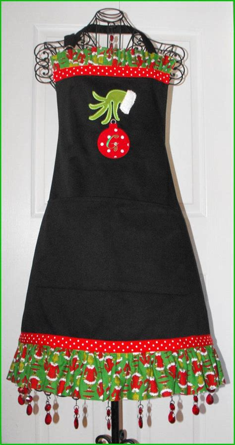 christmas tree apron pattern the grinch christmas apron