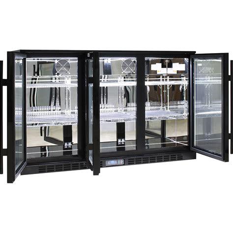 3 Door Glass Bar Fridge Alfresco Glass 3 Door Bar Fridge