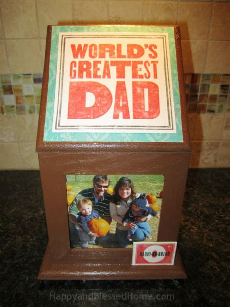 Handmade Fathers Day Gift - handmade s day gift wood photo box craft happy