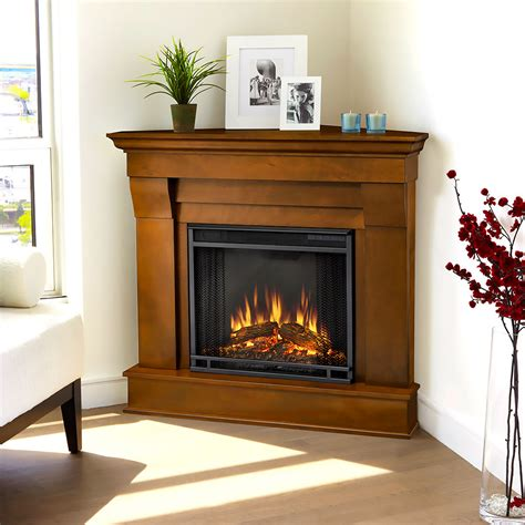 Electric Fireplace Packages by Chateau Corner Electric Fireplace Mantel Package In