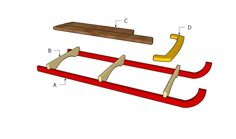 how to a sled wooden sled plans howtospecialist how to build step by step diy plans