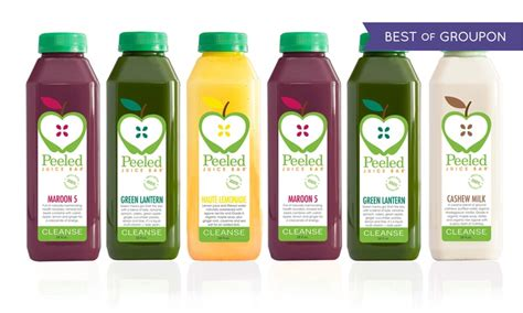 Green And Yellow Juice Bar Detox by Three Day Juice Cleanse Peeled Juice Bar Groupon