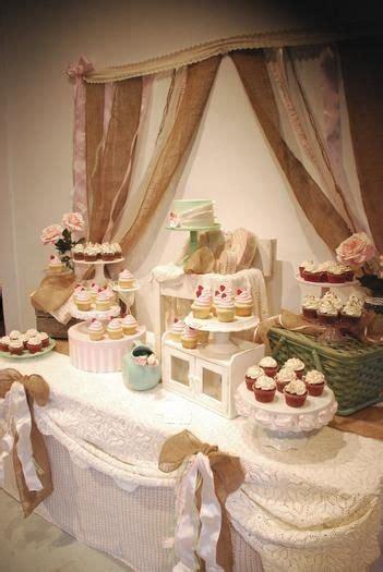shabby chic baby shower ideas   Rustic Shabby Chic Cupcake