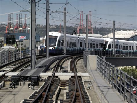 seattle light rail from airport with cuts looming transportation officials looking at