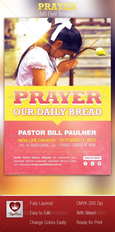 template flyer model prayer church flyer template girl model the flyer and fonts