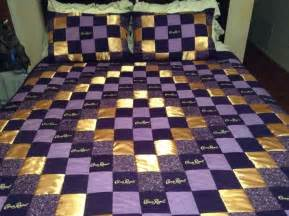 Quilts With Matching Shams Crown Royal Quilt With Satin Pattern With Matching