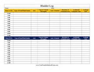printable bladder log