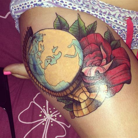 bombs away tattoo jacksonville nc globe and expression