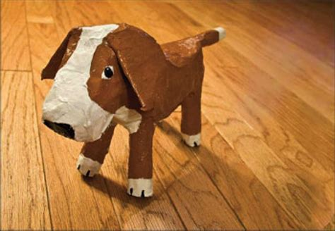 paper a puppy paper mache dogs the bark