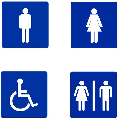 bagno donne cartello segnaletica wc bagno uomini donne disabili targa