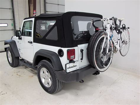 Ski Rack For Jeep Wrangler 2016 Jeep Wrangler Thule Spare Me 2 Bike Rack Spare Tire