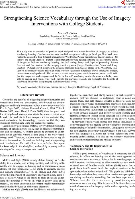 research paper vocabulary research paper on vocabulary acquisition