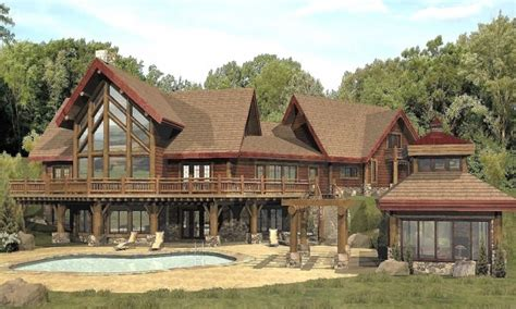 Large Log Home Plans | large log cabin home floor plans custom log homes log