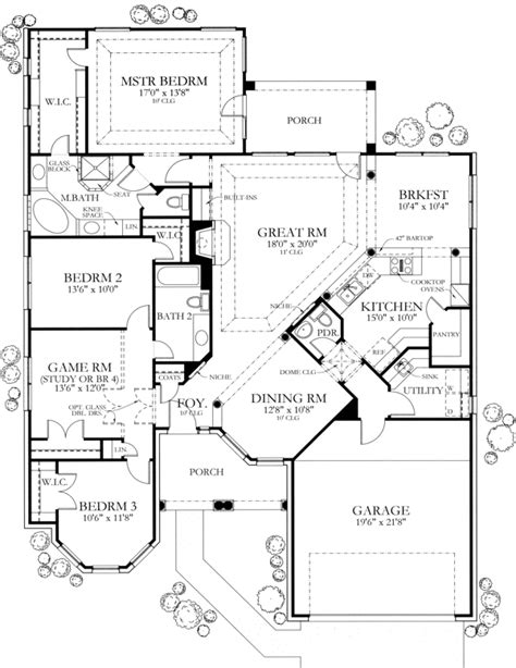 Would move the powder room to make more counter space and a more open kitchen. Maybe to the