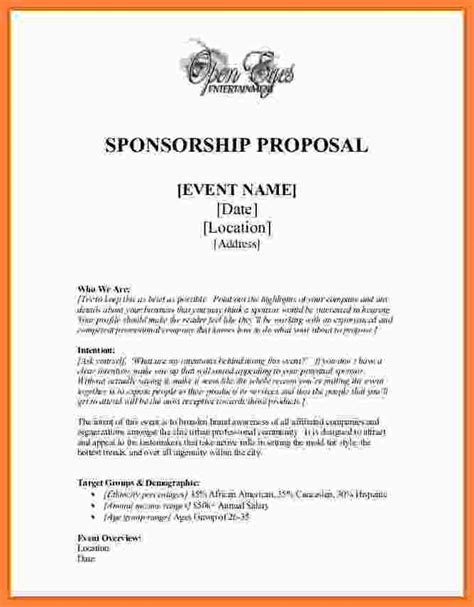 event sponsorship template 6 event sponsorship template free bussines