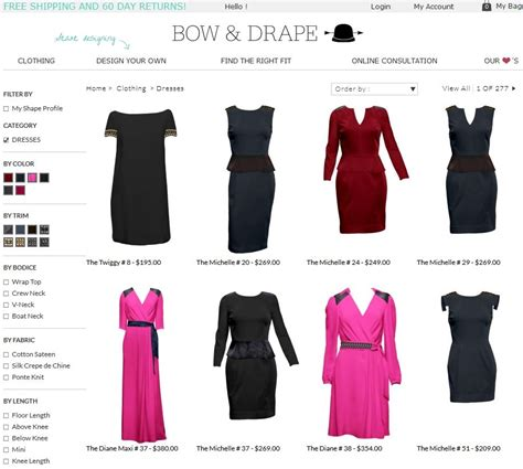 bow and drape customized women s dresses funded by kickstarter