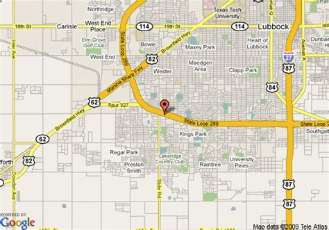 comfort directions map of comfort suites lubbock lubbock