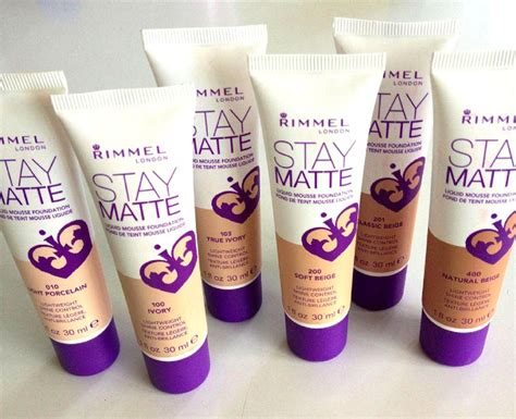 Rimmel Stay Matte Liquid Mousse impressions fond de ten rimmel stay matte liquid