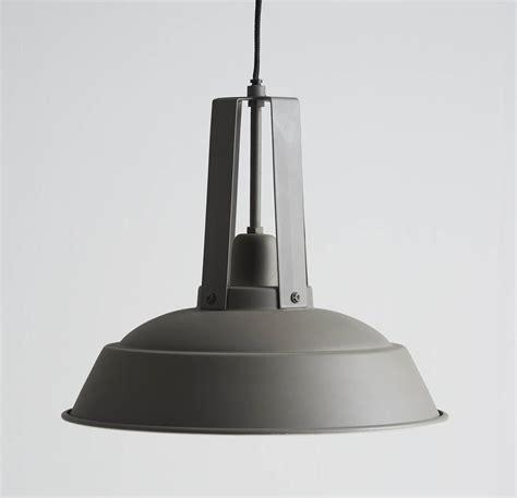 Industrial Metal Pendant Lights Industrial Grey Metal Pendant Light By Horsfall Wright Notonthehighstreet